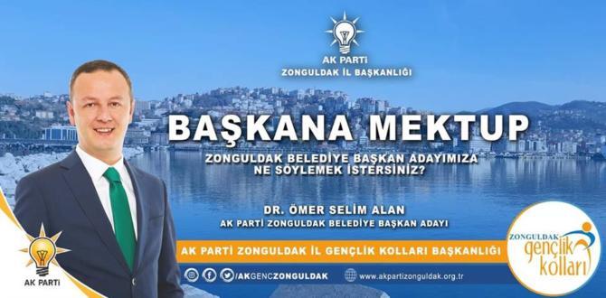 AK Parti Gençlik Kolları'Başkana Mektup' stantlarını kurdu.