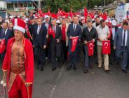 """ZONGULDAK """"DEMOKRASİ VE MİLLİ BİRLİK GÜNÜ"""" İÇİN MADENCİ ANITI'NDA BULUŞTU"""