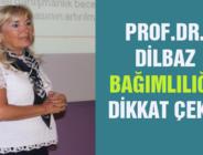 PROF.DR. DİLBAZ BAĞIMLILIĞA DİKKAT ÇEKTİ