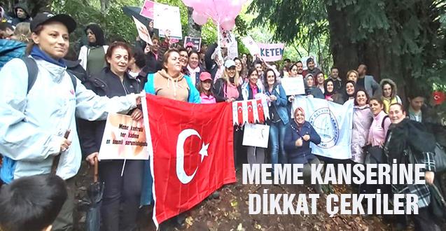MEME KANSERİNE DİKKAT ÇEKTİLER