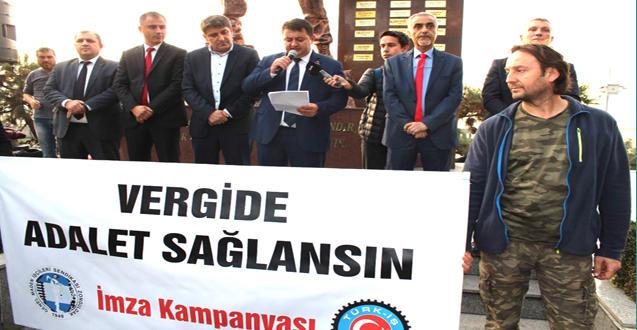 """VERGİDE ADALET SAĞLANSIN"""