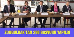 ŞAHİN: ZONGULDAK'TAN 280 BAŞVURU YAPILDI
