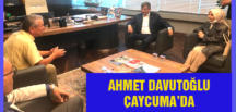 AHMET DAVUTOĞLU ÇAYCUMA'DA