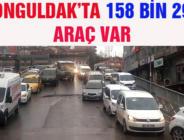 ZONGULDAK'TA 158 BİN 294 ARAÇ VAR