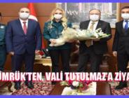 GÜMRÜK'TEN, VALİ TUTULMAZ'A ZİYARET