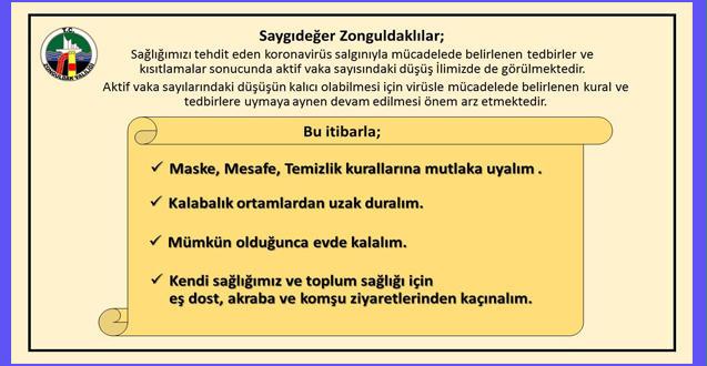 ZONGULDAK VALİLİĞİ UYARDI!