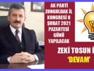 ZEKİ TOSUN İLE 'DEVAM'