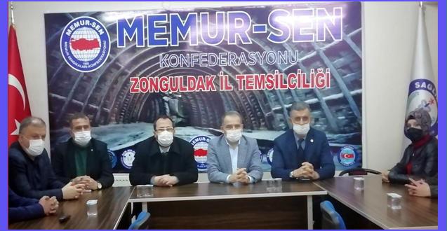 GELECEK PARTİSİ MEMUR-SEN'İ ZİYARET ETTİ