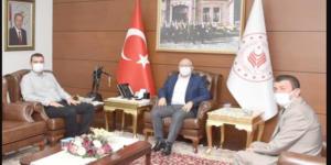 CENK GRUP'TAN VALİ TUTULMAZ'A ZİYARET